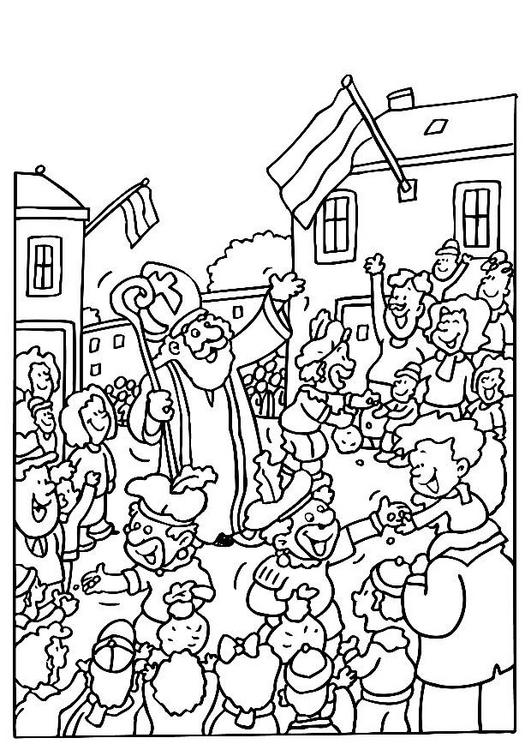 Kleurplaat Van Sinterklaas En Zwarte Piet En De Zak Printen Sinterklaas Kleurplaten Sinterklaas En Zwarte Pieten