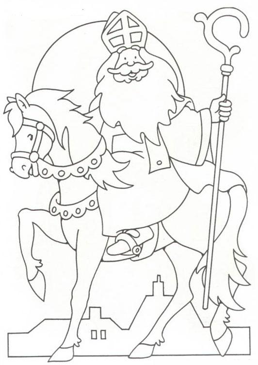 Kleurplaten Sinterklaas Op Zijn Paard.Sinterklaas Kleurplaten Sinterklaas En Zwarte Pieten Pakken